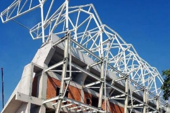 Alsancak Stadı'nda çatı yapımı başladı!