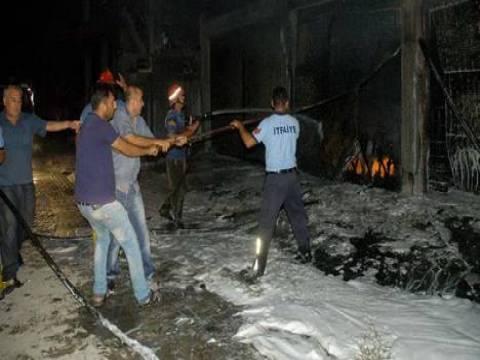 Adana Ceyhan'da depo patladı!