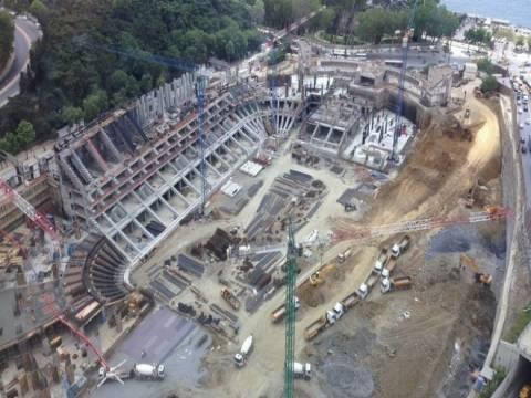 Vodafone Arena'da çatı inşaatı başladı!