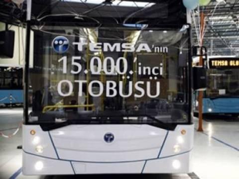 TEMSA, 15 bininci otobüsünü düzenlenen törenle hizmete sundu!
