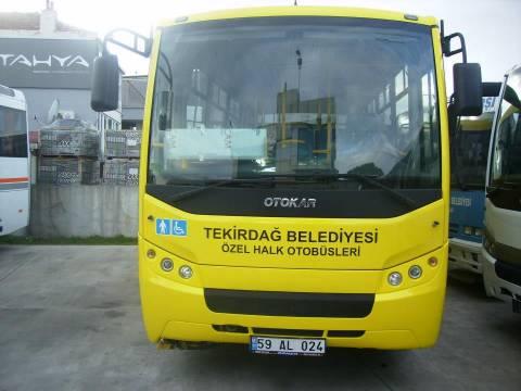 Tekirdağ'da otobüslere Teknolojik Bilgilendirme Kartları konuldu!
