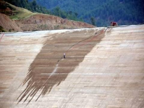 Kıbrıs Alaköprü Barajı inşaatının çalışmaları tamamlandı!