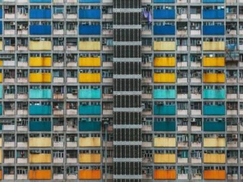 Hong Kong'un devasa toplu konut binaları!