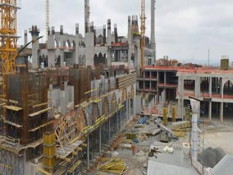 Çamlıca Camii projesinde kaba inşaat bitmek üzere!
