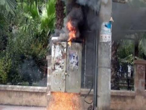 Mardin Nusaybin'de elektrik trafosu patladı!