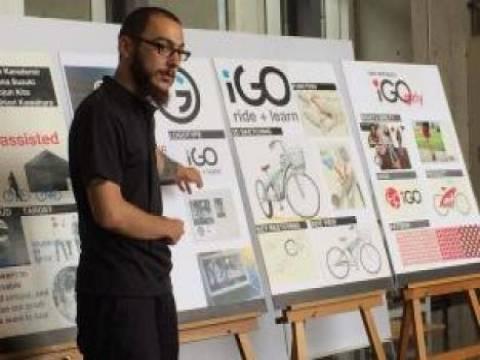 Türk ve Japon öğrenciler İzmir'e özel bisiklet tasarladı!
