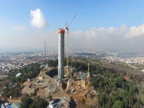 Çamlıca Kulesi'nin 220 metresinin inşaatı bitti!