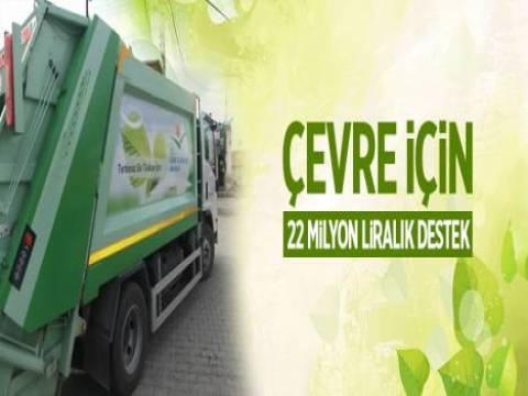 Çevre yatırımlarına 22 milyon liralık destek!