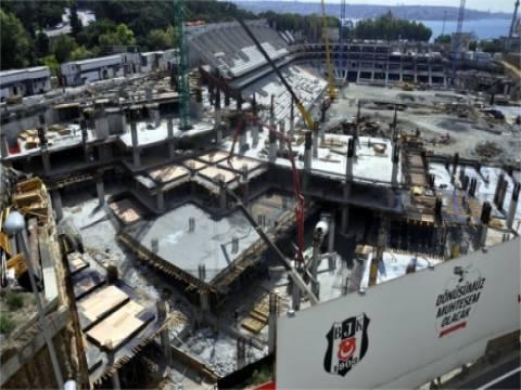 Vodafone Arena'nın inşaat çalışmaları devam ediyor!
