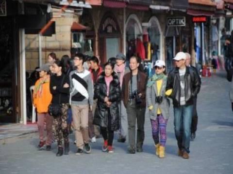 Çinli turistler, Antalya Side Antik Kent'in tanıtımı için fotoğraf çekti!