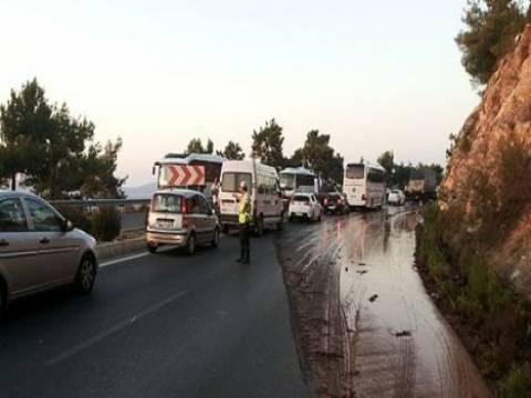 Bodrum-Milas karayolu araç geçişine kapandı!
