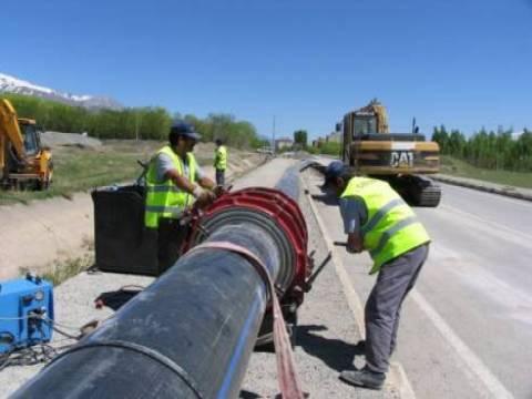Erzincan Cansuyu projesinin 141 kilometresi tamamlandı!