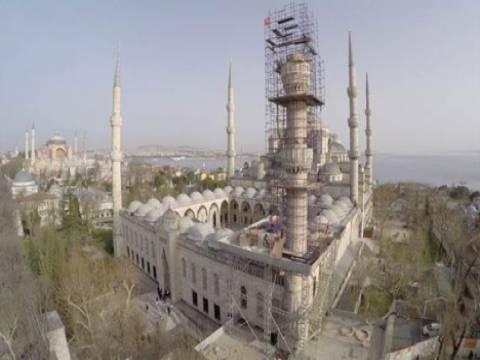 Sultanahmet Camisi'nin minaresi güçlendirilecek!