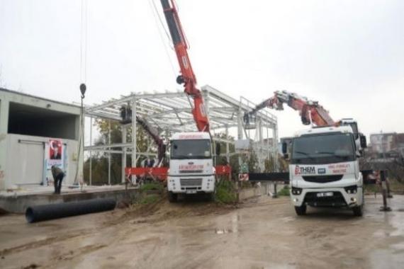 Osmangazi'deki soğuk hava deposu inşaatı yıkıldı!