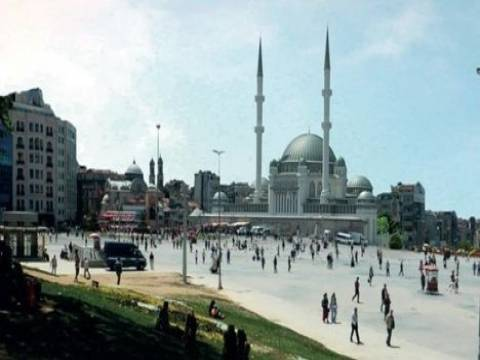 Taksim'e yapılacak caminin ruhsatı alındı!