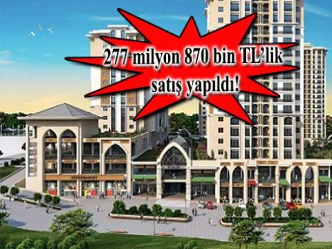 Kent Meydan Dükkanları Başakşehir'de 225 dükkan satıldı!