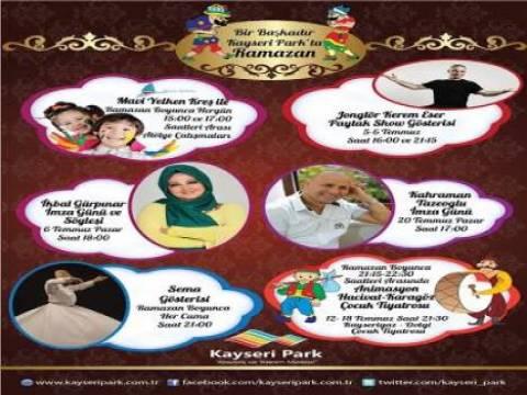 Kayseri Park AVM'de Ramazan etkinlikleri başlıyor!