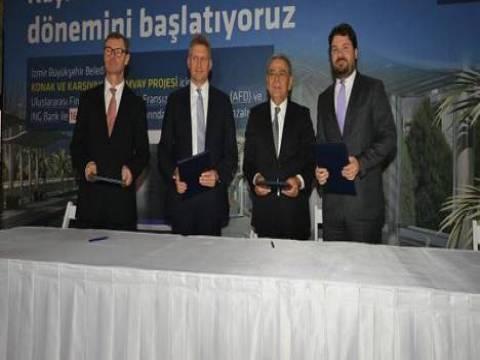 İzmir'in tramvayları için 165 milyon euroluk kredi anlaşması imzalandı!