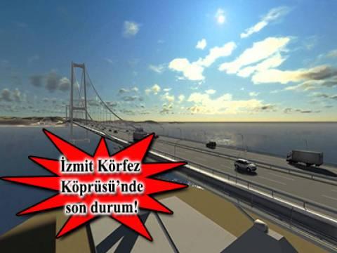 Dünyanın 4'üncü büyük asma köprüsünde halatlar çekildi!