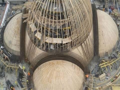 Cumhurbaşkanlığı Sarayı'ndaki cami inşaatında son aşamaya gelindi!