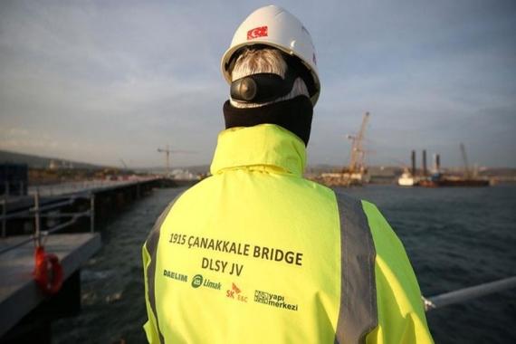 1915 Çanakkale Köprüsü'nün inşaatı yüzde 20 ilerledi!