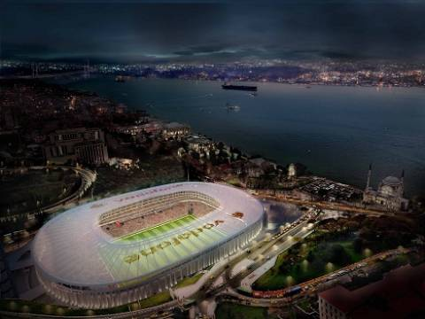 Vodafone Arena'nın kaba inşaatı tamamlandı!