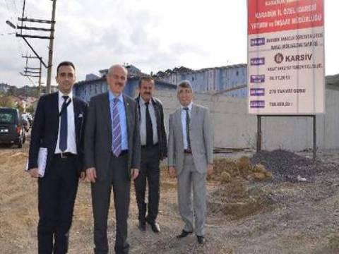 Karabük Anadolu Öğretmen Lisesi Kapalı Spor Salonu inşaat sürüyor!
