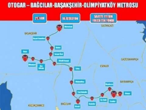 Esenler Otogar-Başakşehir Metro Hattı imar planı askıya çıktı!