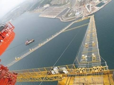 İzmit Körfez Geçişi Asma Köprüsü'nde çalışmalar devam ediyor!