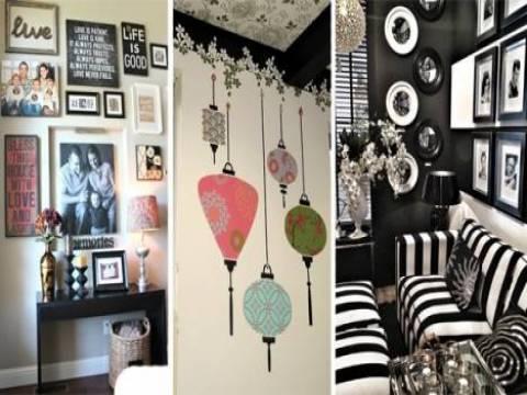 Ev dekorasyonu yaparken duvarda dikkat edilecek hususlar!