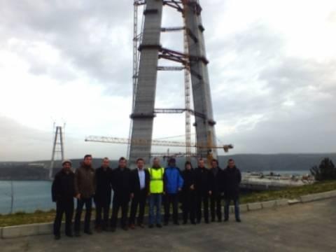 3'üncü köprüye Balkan İş Dünyası'ndan teknik gezi!