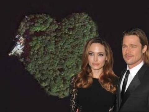 Angeline Jolie sevgilisi Brad Pitt'e kalp şeklinde ada satın aldı!