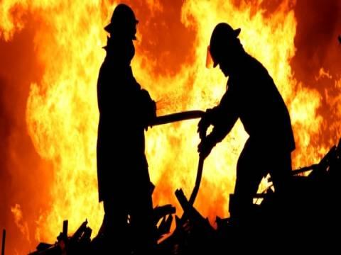 Basketbol maçında yangın çıktı!