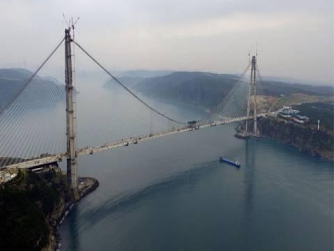 İşte Yavuz Sultan Selim Köprüsü'nün rakamlarla tüm detayları!