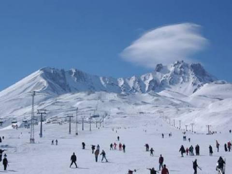Erciyes Kayak Merkezi sömestr tatili nedeniyle doldu!