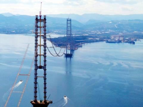 İzmit Körfez Geçiş Köprüsü'nde 220 kablonun montajı devam ediyor!