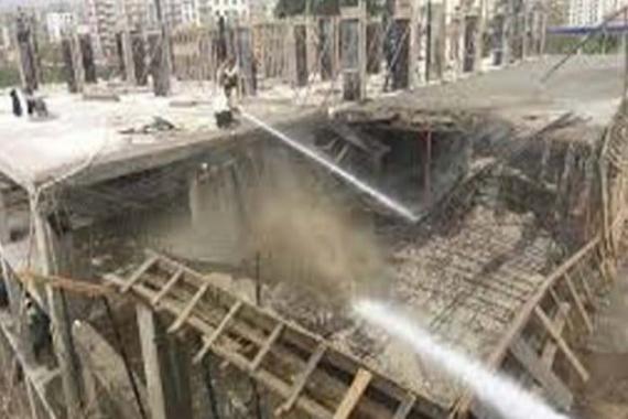 Tuzla'da inşaat halindeki 8 katlı binanın iki katı çöktü!