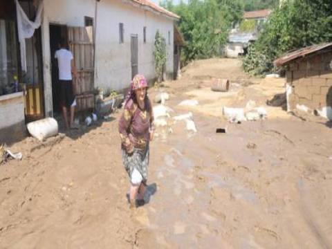 Edirne Uzunköprü'de su baskını!