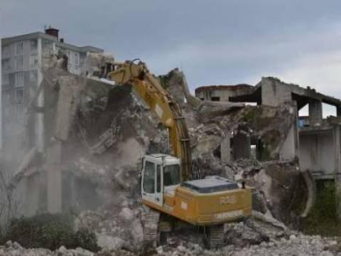 Ordu Fatsa'nın harabe villaları yıkıldı!