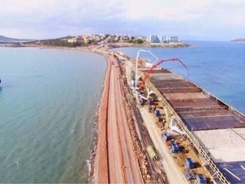 Ayvalık Cunda Köprüsü'nde inşaat devam ediyor!