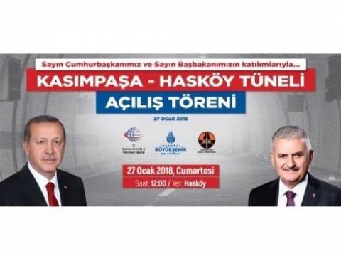 Kasımpaşa - Hasköy Tünel açılışı bugün!