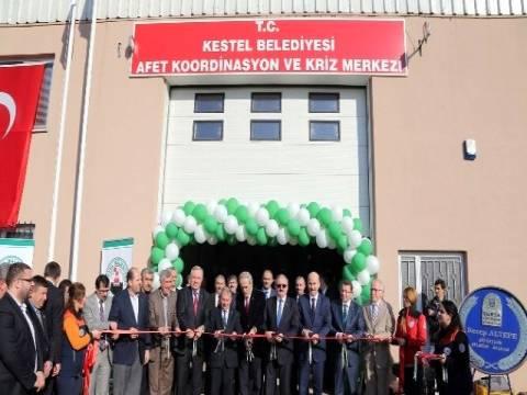 Bursa Kestel'de deprem afet merkezi törenle açıldı!