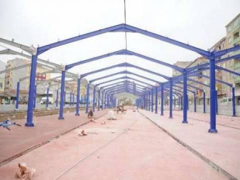 Çorlu Sabit Kapalı Pazaryeri'nin inşaat çalışmaları devam ediyor!