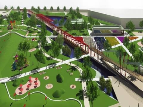 Manisa Kent Parkı'nın inşaatı sürüyor!