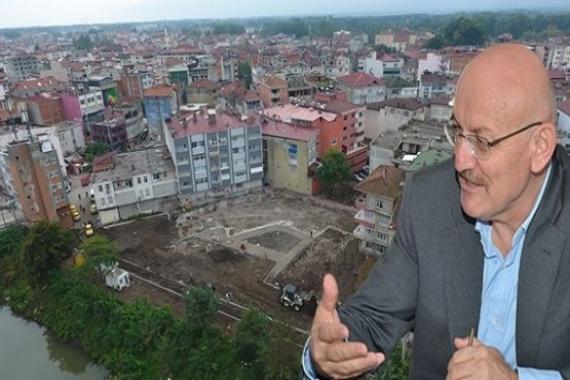 Samsun Terme'de yeni otopark inşaatının temeli atıldı!