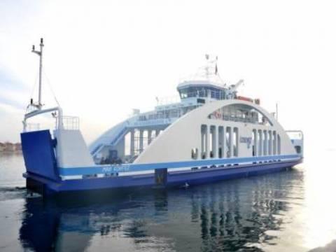 İzmir Büyükşehir Belediyesi'nin yeni arabalı vapuru Mavi Körfez ilk seferini yaptı!