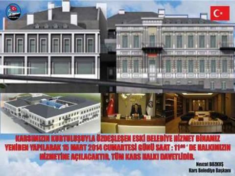 Kars Belediyesi'nin modern hizmet binası 15 Mart'ta hizmete açılacak!
