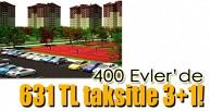 Leva İnşaat'tan 400 Evler Ankara'da 631 TL taksitle 3+1!
